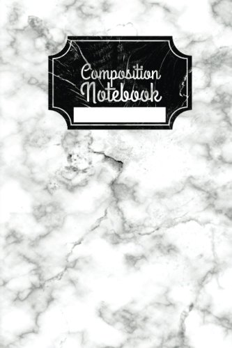 Small Marble Composition Notebook: Mini White Marble Notebook, 4