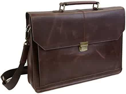 LB1 High Performance Leather Unisex Business Messenger Bag Briefcase Bag for Dell Latitude D620 Intel C2D 1.6Ghz 3GB 80GB CMB Windows XP ENERGY STAR Laptop Notebook Brown