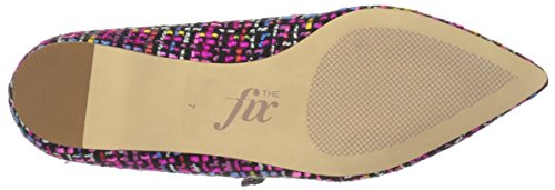 The Fix Women's Estrella Mary Jane Tweed Ballet Pointed Toe Flat, Pink/Multi, 8.5 B US by The Fix (Image #3)