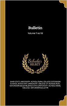 Bulletin: Volume 7 no 10