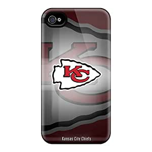 New Style Tpu 4/4s Protective Case Cover/ Iphone Case - Kansas City Chiefs Nfl Team