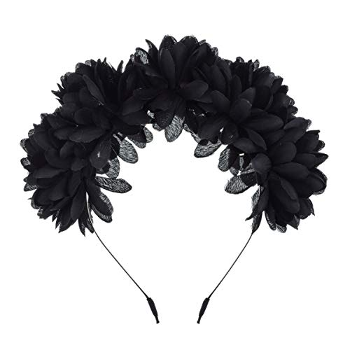 Floral Fall Colorful Flower Headpiece Halloween Daisy Crown Festival Hairhoop HC-33 -