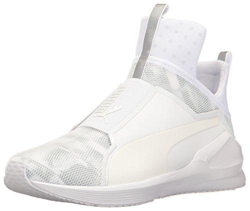PUMA Women's Fierce Swan WN's Cross-Trainer Shoe, White White, 8 M US
