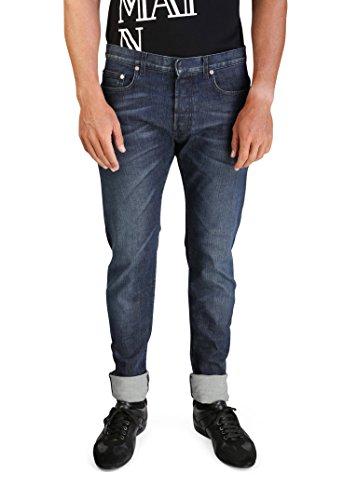 Dior Homme Men's Bleu Marine Slim Fit Denim Jeans Pants Blue Homme Denim Pants