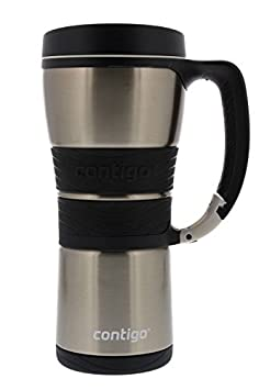 Contigo Extreme Stainless Steel Travel Mug with Handle (Vacuum Insulated) 16 ounce Silver EXJ110B01 CO9001301A00051