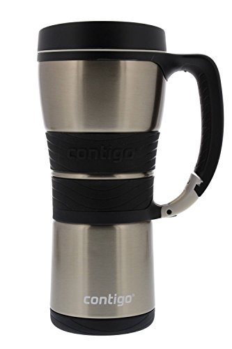 Contigo Extreme Vacuum Insulated Stainless Steel Travel Mug with Handle, 16oz, Silver