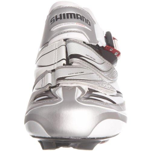 Shimano R133B, Herren Radsportschuhe Weiß (Weiß/Schwarz)