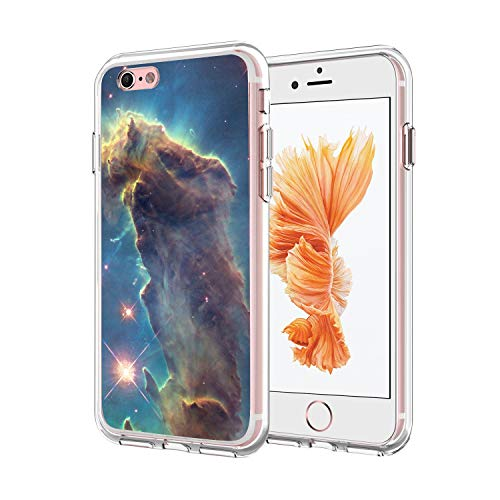 Owa UV Printing Case for iPhone 6|6S Plus, Shock-Absorption Bumper Cover, Anti-Scratch Clear Back, HD Clear - Outer Space