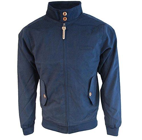Lambretta Mens Navy Vintage Mod Harrington Jacket with Gingham Lining XL