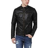 Labeeb Fashion Men's Black Color Faux Leather Jacket