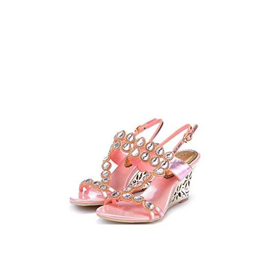 de Rhinestone Playa Sandalias Zapatos Atractivas Grande Cristal Femeninas Sandalias Alto de señoras Verano Moda Moda Sandalias de Hermoso Casual de Zapatos Mujer tacón xFwnTPCfqA