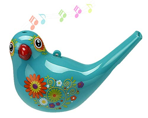 Bird Whistle, Bath Toy, Bird Toy for Kids, Birthday Gift,, Easter Gift, Adorable, Durable, Non-Toxic, Cyan, Upgrade Version