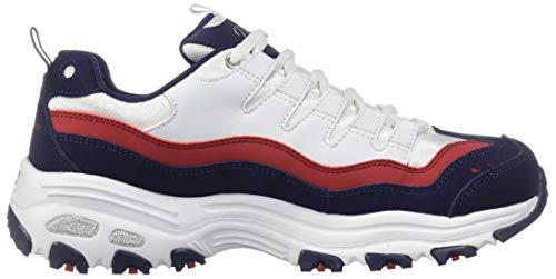 D'lites Mujer Skechers Blanc Azul Zapatillas 7TWY70qwd