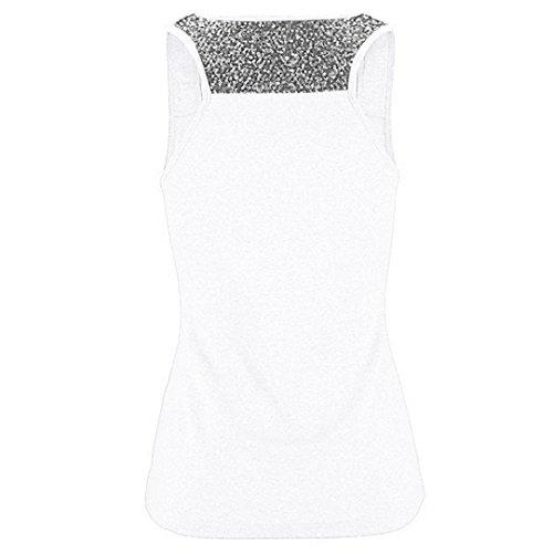 Dos Gym T Débardeur s Manches Yoga Sans D'été Nageur Top Gilet Blanc Blouse Sequin Sport Rapide De Musculation Séchage Gris Plus Size Dames Shirt Tops rqxBqXzFn