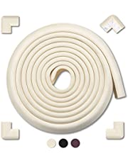 MEETBABY 16.2 ft [15ft Edge + 4 Corners] Safe Edge and Corner Cushion Pre Taped Corners COFFEE Premium Childproofing Guard Child Home Furniture Safety Bumper Baby Proof Table Protector