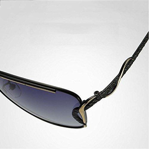 Deportes Gafas De Gafas Marco Marco Gran De Lente Metal Lady Gafas De Polarizer para Clásicas C B Sol De GUOHONGCX Negocios Protector Sol Moda Exteriores vzxaqnf