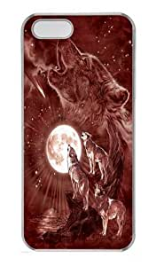 Wolf Moon Concert PC Case Cover for iPhone 5 and iPhone 5s Transparent