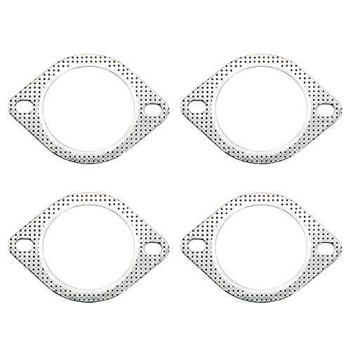 (3 Inches 2-Bolt Exhaust Flange Gasket High Temp for Exhaust Turbo Downpipe Catback Headers)