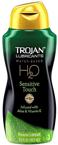 TROJAN H2O Water-Based Personal Lubricant, Sensitive Touch 5.50 oz (Pack of 6)