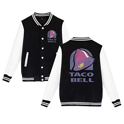 HiPiClothK Unisex Majestic Bell With Taco Personalized Comfortable Baseball Uniform Jacket Sport Coat Plus Velvet