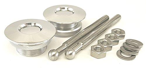 - QL-38-LP Quik-Latch Hood Pin Kit (Polished Aluminum)