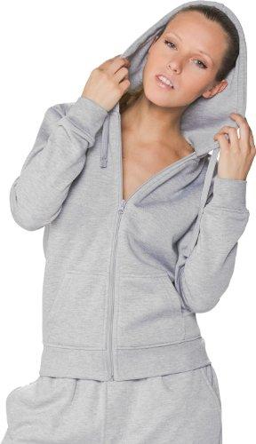 Ladies Zip Classics Hoody suéter Mujer Urban Pullover Gris OAaqwxE