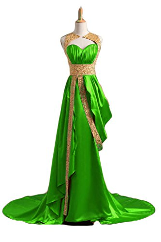 Line A Long Formal Prom Beaded Green Women Golden Dresses s Evening Chupeng aSFqXc
