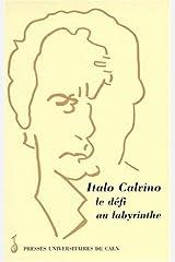 Italo Calvino le défi au labyrinthe. Publiées sous la direction de Paolo Grossi et de Sylvia Fabrizio-Costa Paperback