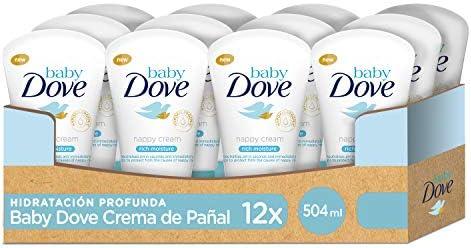 Crema de pañal Baby Dove hidratación profunda 42ml – Pack de 12 ...