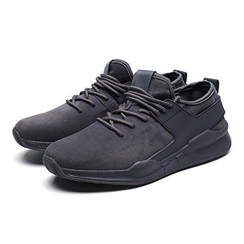 Capo Spettacolo Moda Uomo Elastico Confortevole Sneaker Sportivo Sportivo Scarpe Da Passeggio Gray-1