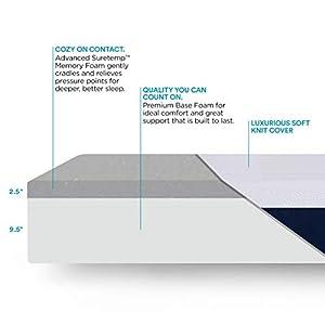 Sleep Innovations Shiloh 12-inch Memory Foam Mattress, King