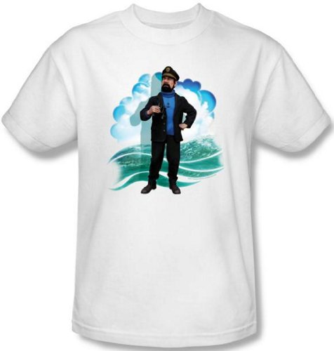 "Adventures of Tintin ""Captain Haddock"" Men's T-Shirt, white, 2XL"