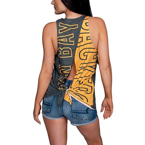 FOCO NFL Green Bay Packers Womens Tie Breaker Tank Top ShirtTie Breaker Tank Top Shirt, Team Color, Medium