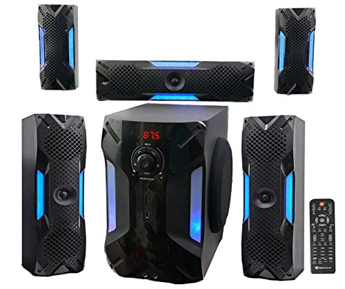 Rockville HTS56 1000w 5.1 Channel Home Theater System/Bluetooth/USB+8″ Subwoofer (Renewed)