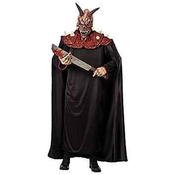 Carnival Toys-03041 hombros con capucha de látex Toalla máscara y dimensiones demonio: aprox