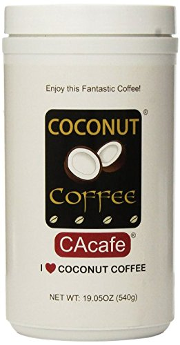 Cacafes Coconut Coffee in Jar #28528 (Cane Sugar Added)(Pack of 2) by Cacafes