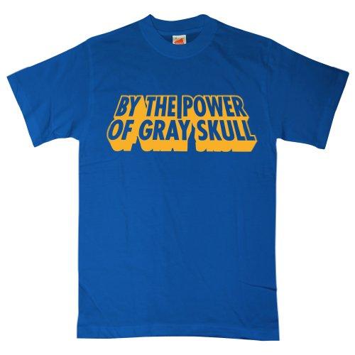 Mens By The Power Of Gray Skull T Shirt - Royal Blue - XL