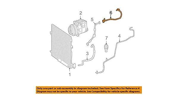 Mercedes-Benz 211 830 90 15 A//C Refrigerant Suction Hose