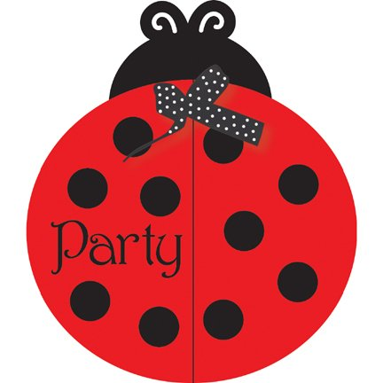 (Creative Converting Ladybug Fancy Birthday Party Invitations,)