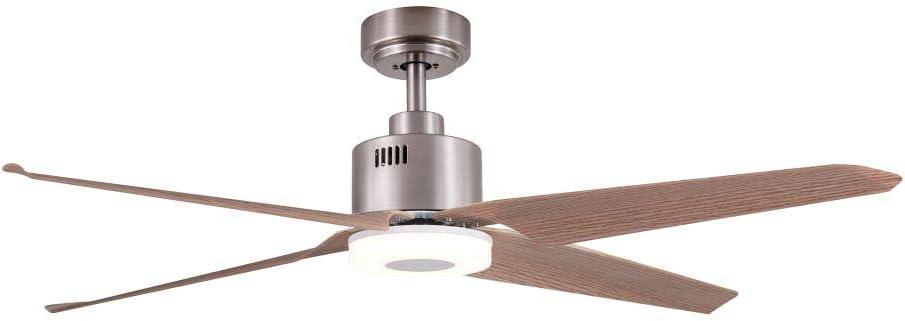 Sulion 072049 Nerhea Ventilador con luz LED 18 W de techo 4 aspas ...