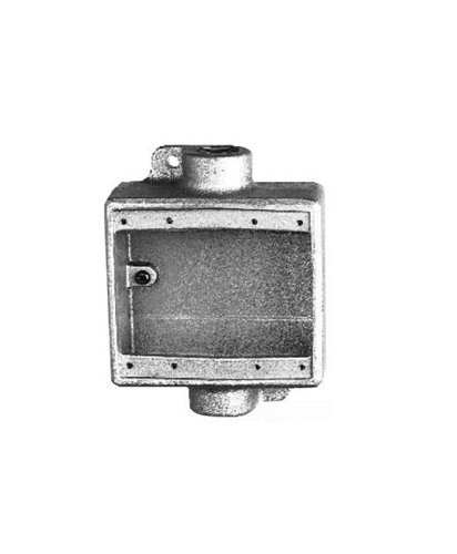 Crouse-Hinds FDC12 Condulet Two Gang Cast Device Box, 1/2-Inch ()