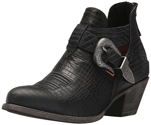 Ariat Womens Dulce Western Botte Noir Serpent Imprimer