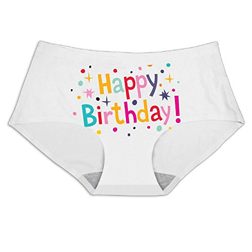 Boozgb Ladies Ice Silk Underwear Happy Birthday Panty Comfortable Invisible Briefs For Women No Panty Line