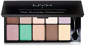 NYX Cosmetics Eye Shadow Palette 10 Color, Eye Color Brown, 0.49-Ounce