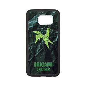 Generic for Samsung Galaxy S6 Cell Phone Case Black Origami Unicorn Custom HSOFHFHOJ2222