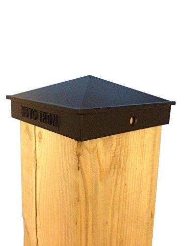Nuvo Iron 7.5' x 7.5' Aluminium Post Cap - Black (for 7.5' x 7.5' dressed posts, 8' x 8' undressed posts)