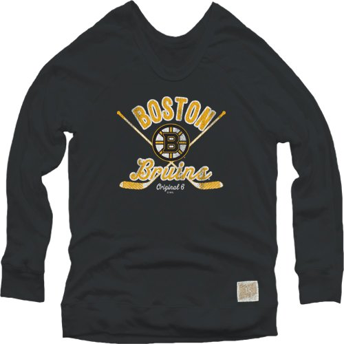 NHL Boston Bruins Women's Pullover Sweatshirt, Medium, Black (Bruins Sweatshirt Boston Ladies Hoody)