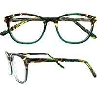 c132d0fd21f95 OCCI CHIARI Rectangle Stylish Eyewear Frame Non-Prescription Eyeglasses  With Clear Lenses Gifts For Women
