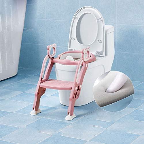 KUANDARYJ Adaptador WC Altura Ajustable-Reductor WC/Orinal Plegable para Niños con Escalera Antideslizante para Niños-Ideal para Entrenamiento WC de Niños, Blue: Amazon.es: Deportes y aire libre