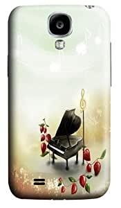 Aesthetic Cartoon Piano Scene Polycarbonate Hard Case Cover for Samsung Galaxy S4/Samsung Galaxy I9500 3D